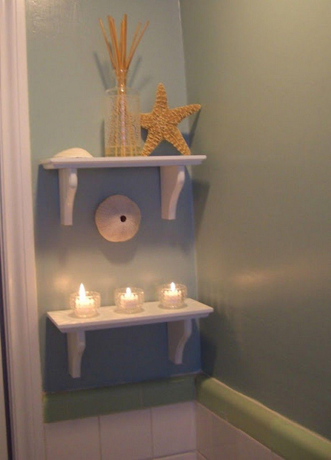 110 adorable shabby chic bathroom decorating ideas - Beach theme decorating ideas ...