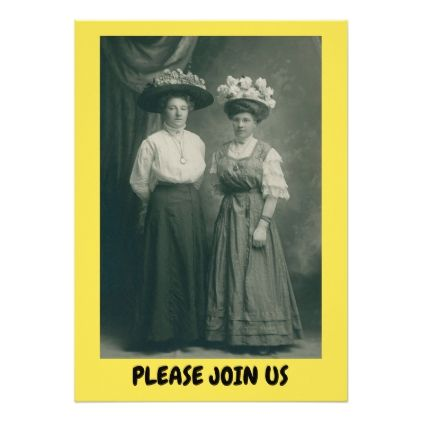 Easter dinner party invitation victorian hats dinner party easter dinner party invitation victorian hats dinner party invitations rsvp and dinner invitations negle Gallery