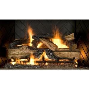 Emberglow Country Split Oak 30 In Vented Natural Gas Fireplace Logs Natural Gas Fireplace Gas Fireplace Logs Gas Fireplace