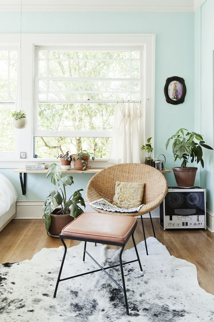 Beautiful Seafoam Green Mint Walls Paired With Wood And Blush Pink