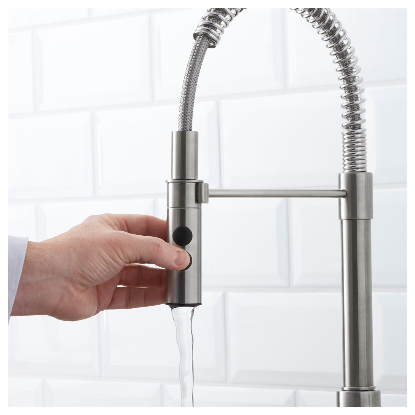 VIMMERN Kitchen faucet with handspray - stainless steel color