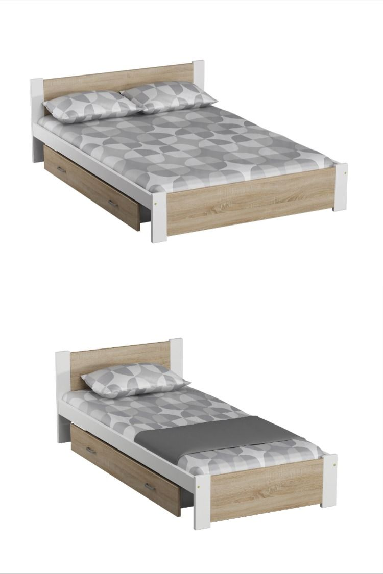 Details about Pine Wood Bed Frame 3ft Single 4ft Small