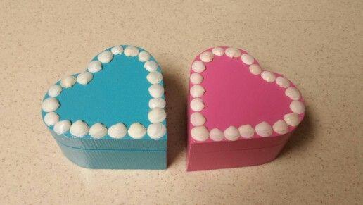 Seashell heart jewelry boxes!
