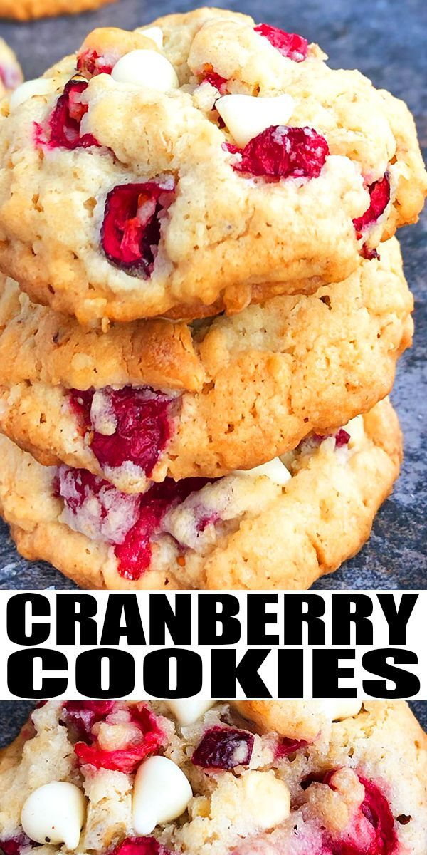 Photo of White Chocolate Cranberry Cookies