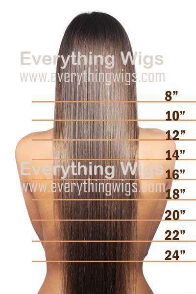 Wig Hair Length Chart Jpg 400 600 Pixels 22 Inch Hair Extensions
