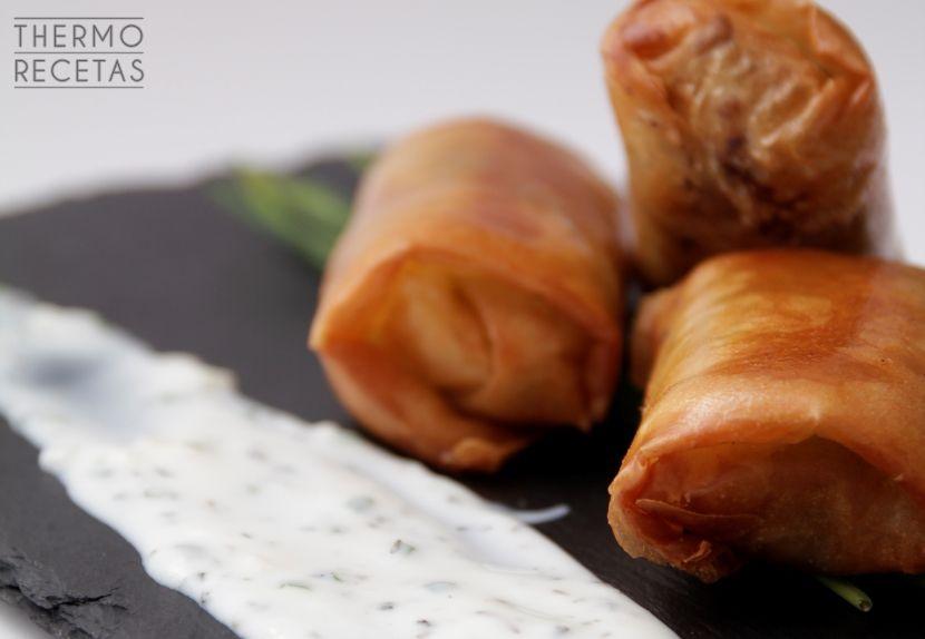 Rollitos %C3%A1rabes Briouat o rollito de carne marroquí