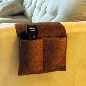 New Brown 4 Pocket Remote Control Organizer Caddie Holder
