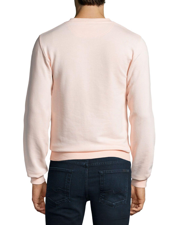 Embossed Logo Sweatshirt, Blush Pink