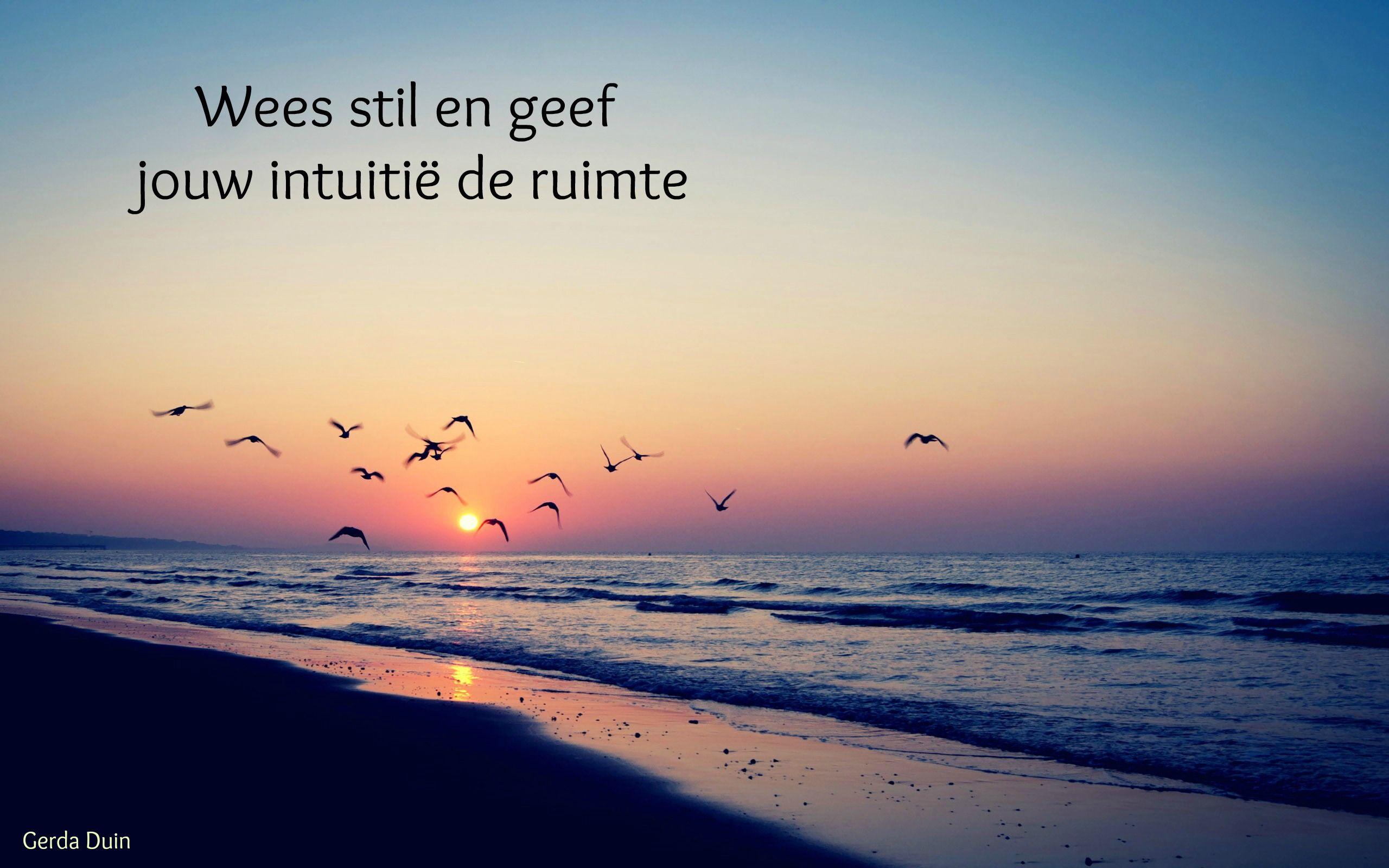 Wees stil en geef jouw intuitie de ruimte