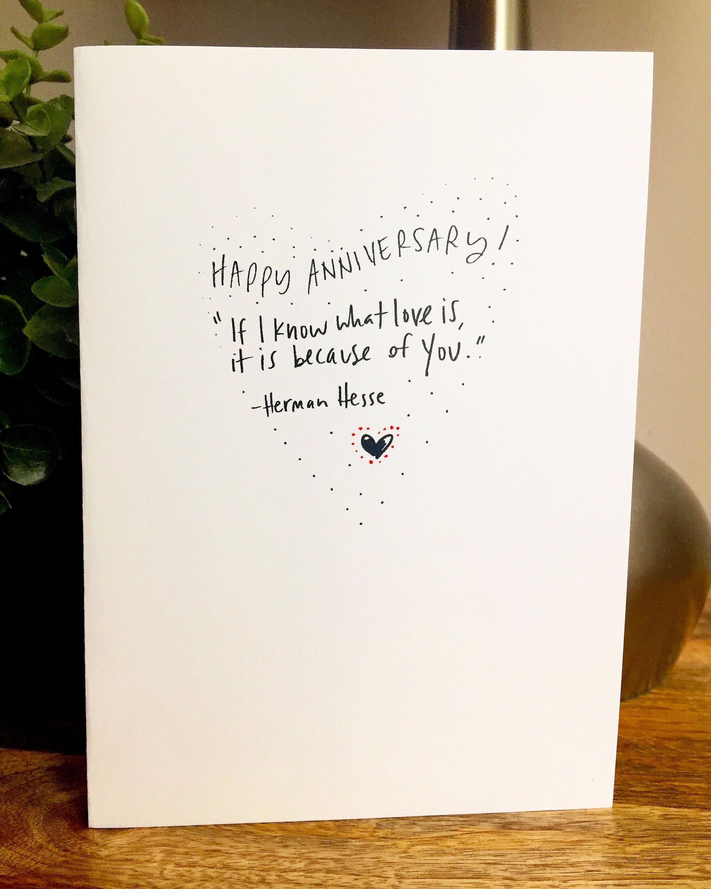One Year Anniversary Card For Her Paper Anniversary Anniversary