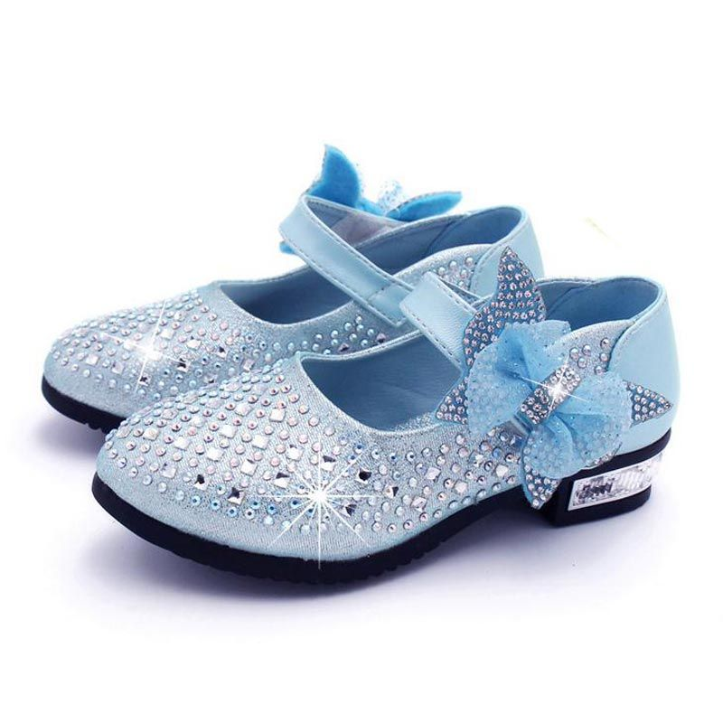Kids Shoes Bowknot Flats Princess Girls Doll Shoe Slip On Party Baby Footwear