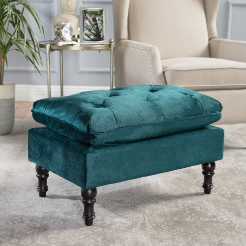 Awe Inspiring Karlyn Ottoman Fairmont Park Upholstery Teal In 2019 Andrewgaddart Wooden Chair Designs For Living Room Andrewgaddartcom