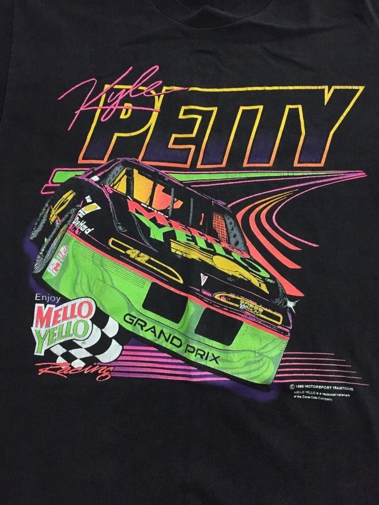 Kyle Petty 1993 Nascar Mello Yello Vintage T Shirt Hanes Melloyello Nascar Shirts Vintage Tshirts Cars Tees