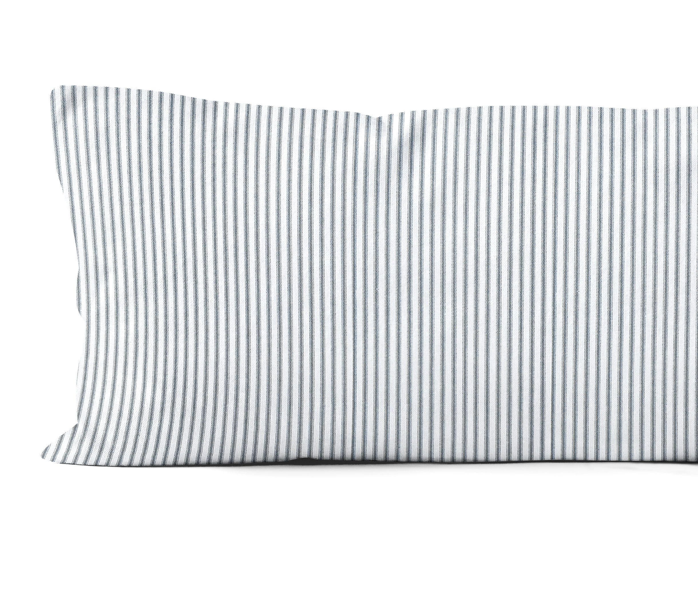 ticking body pillow cover 20x54 in navy