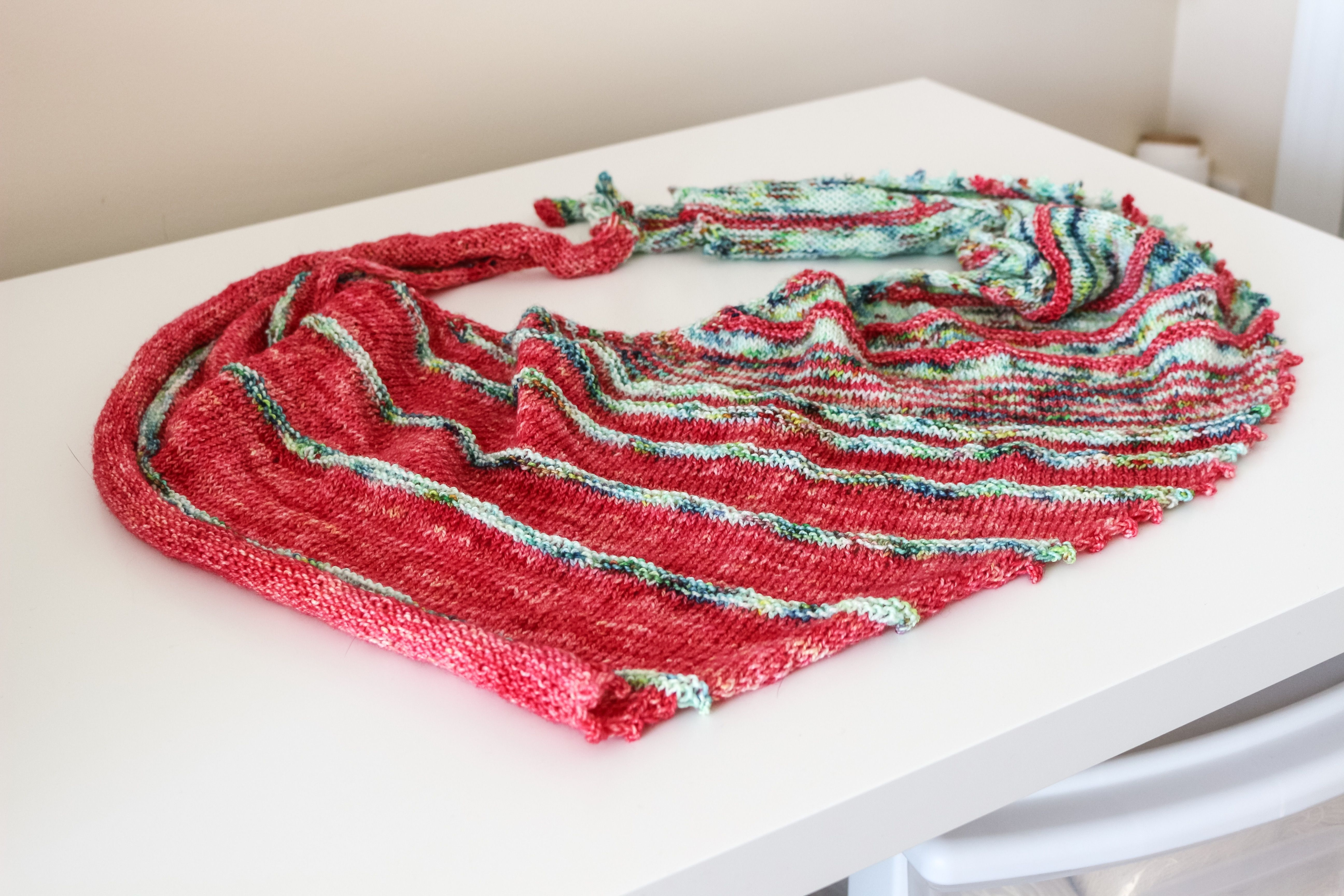 Because I Love You Wrap by Amy Meeks - With Pointed Sticks Yarn Ballpoint Sock