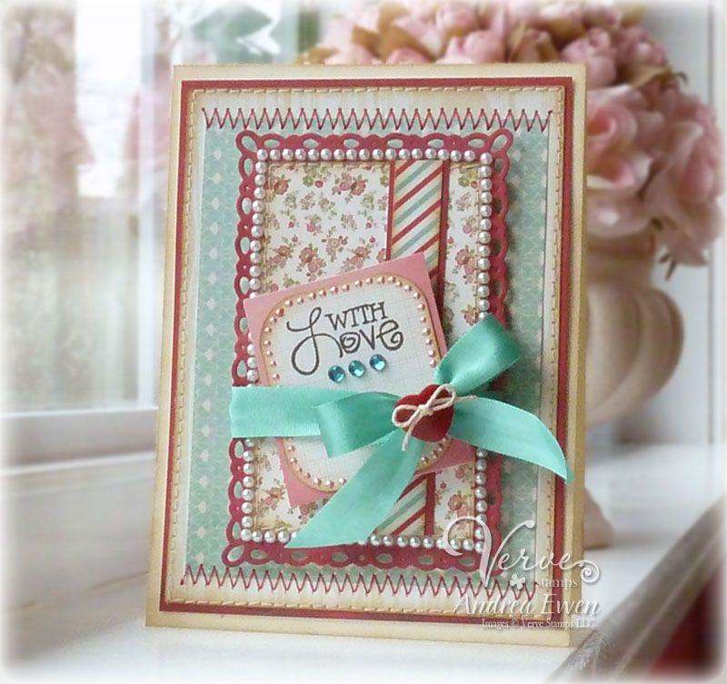 Card by Andrea Ewen using Verve Stamps.  #vervestamps