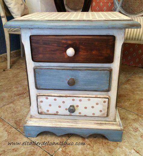 5-pintar-muebles-de-pino-miel | fotos | Pinterest | Night stand