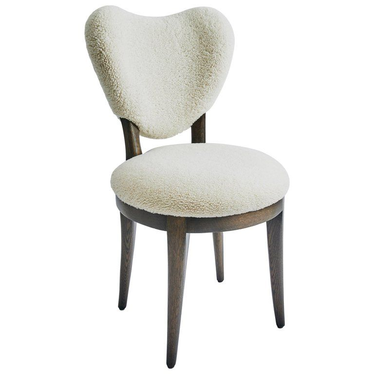 Contemporary Coy Chair White Sheepskin Upholstered Dining Chair Or Side Chair Upholstered Dining Chairs Dining Room Chairs Modern Dining Chairs