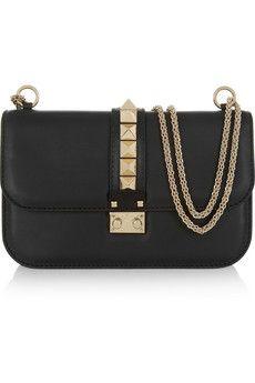 Valentino Glam Lock studded leather shoulder bag | NET-A-PORTER £1,162.50