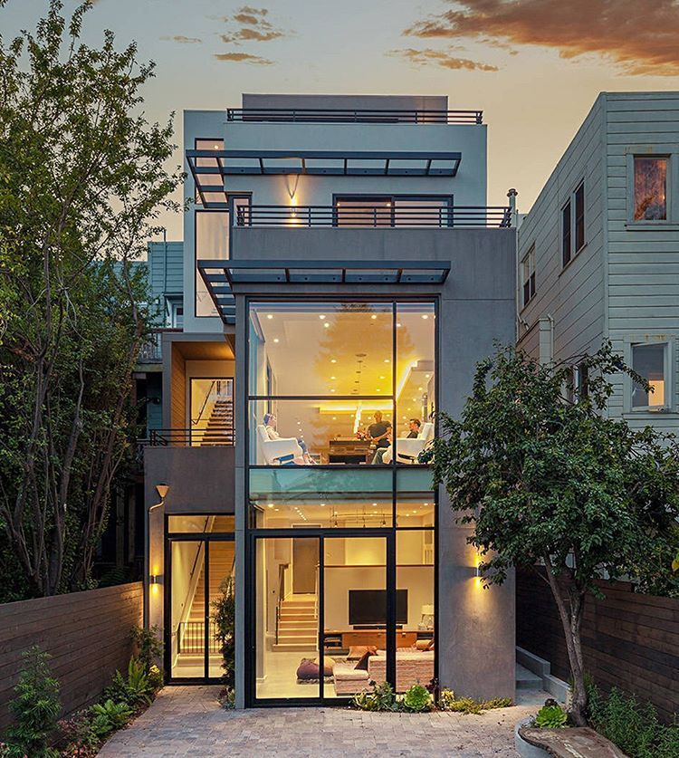 Get Inspired By The Best That Is Happening On The Contemporary Architecture Scene Enter 3 Storey House Design Small House Exteriors House Architecture Design