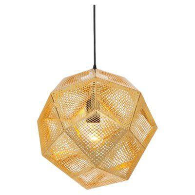 Tom Dixon Etch 1-Light Unique / Statement Globe Pendant | Perigold #pendantlighting
