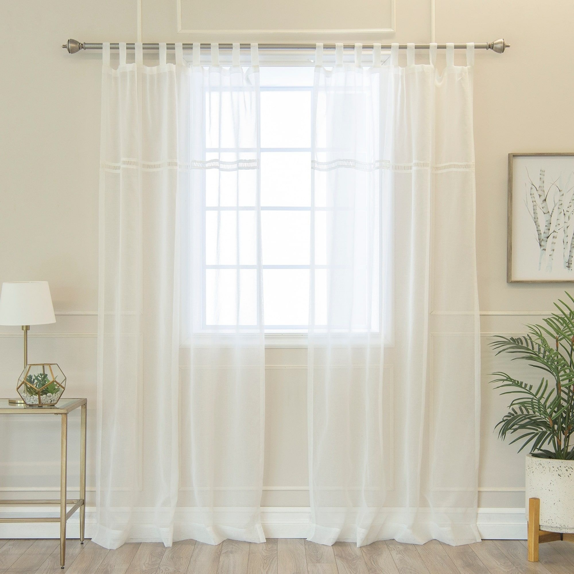 product home linen garden overstock curtains free panel shipping faux today heavy curtain