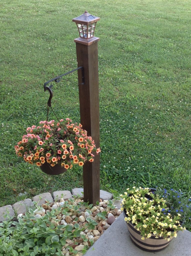 Do It Yourself Lamp Post With Hanging Basket One 4x4
