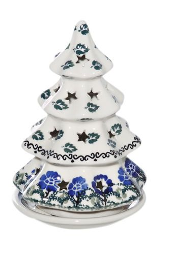 New Polish Pottery Christmas Tree Md Candle Luminary Boleslawiec Ca Pattern 1071 Polish Pottery Pottery Candle Luminaries
