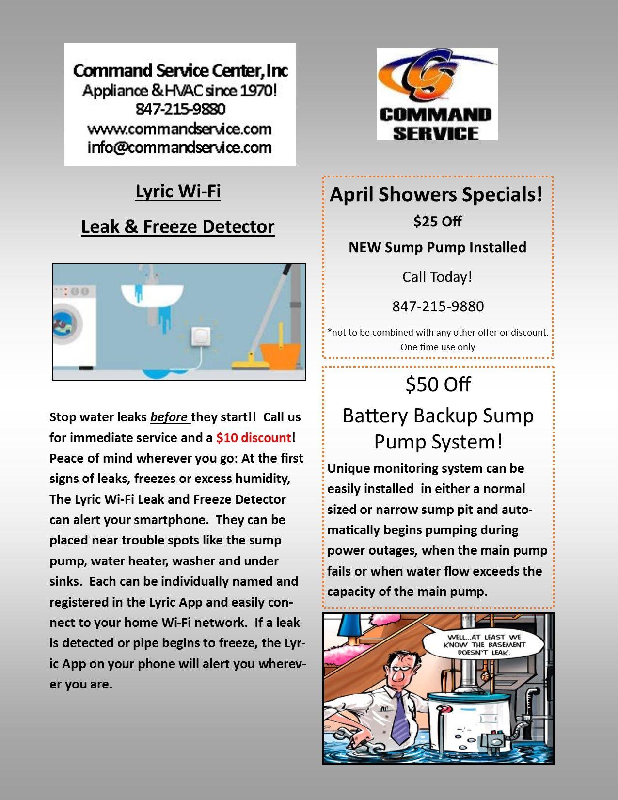 April Showers Special 25 Off New Sump Pump Installed Call Today 847 215 9880 Sump Pump April Showers Sump