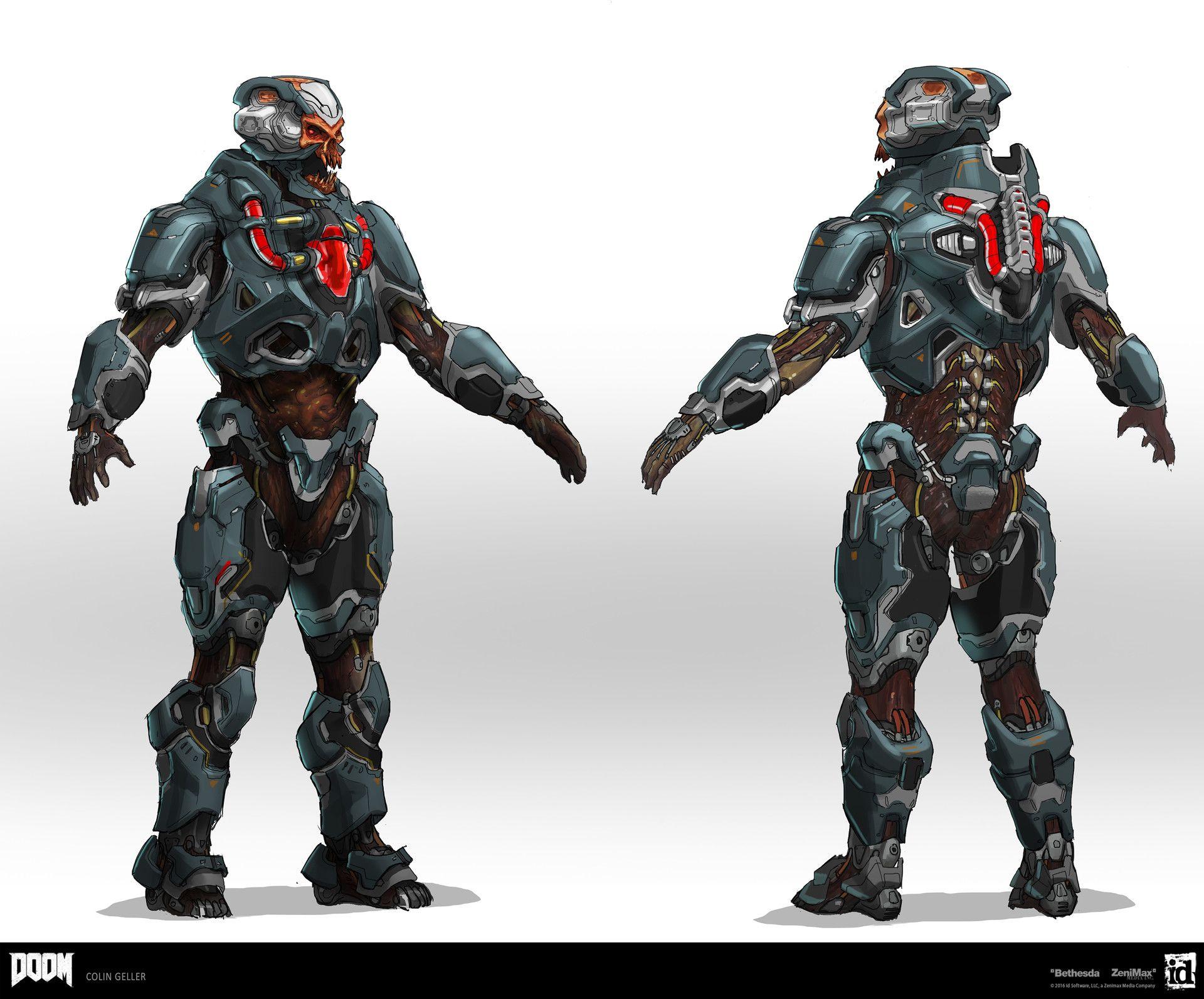 ArtStation - DOOM - DLC Cyber Demonic Armor, Colin Geller