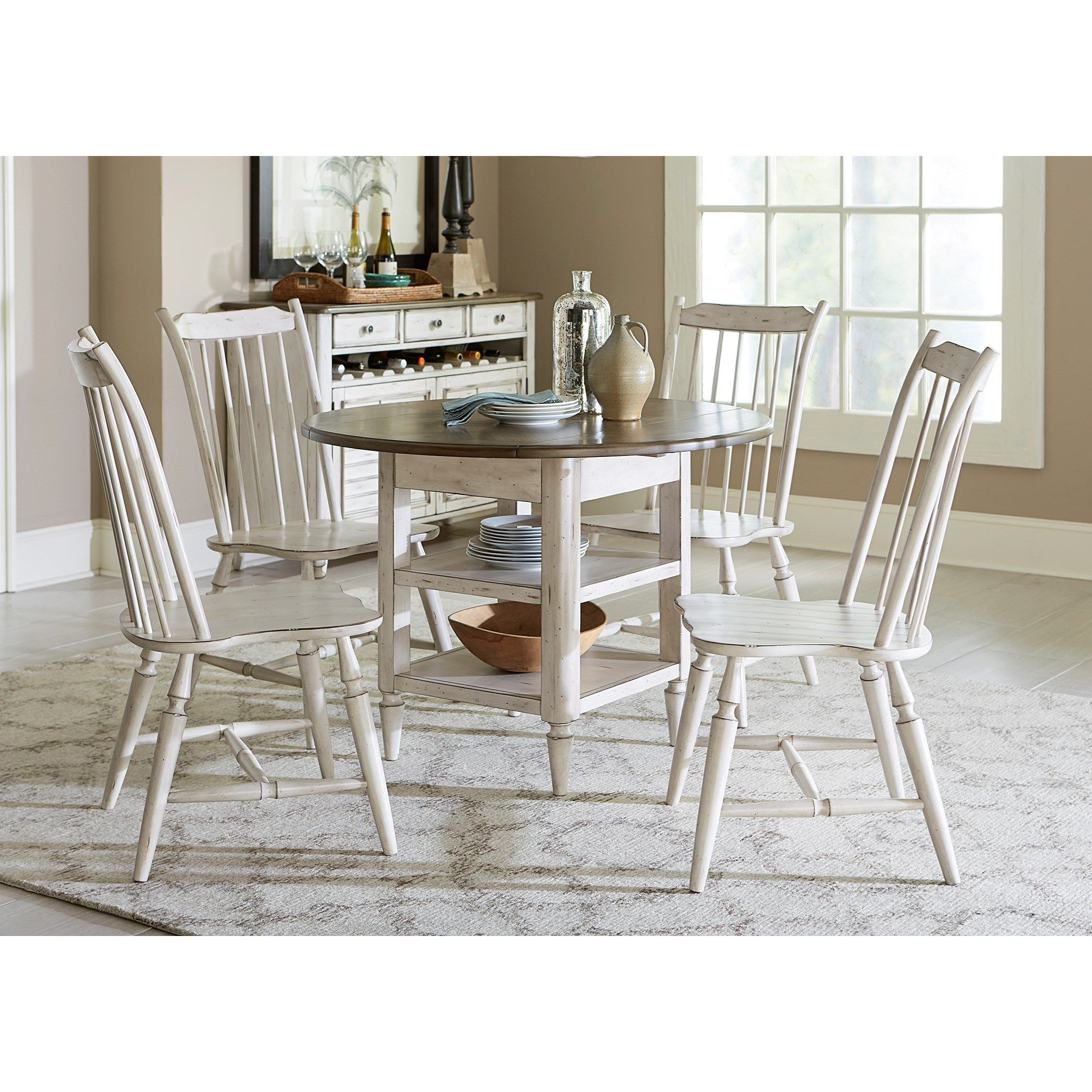 Oak Hill Dining 5 Piece Drop Leaf Table Set By Liberty Furniture