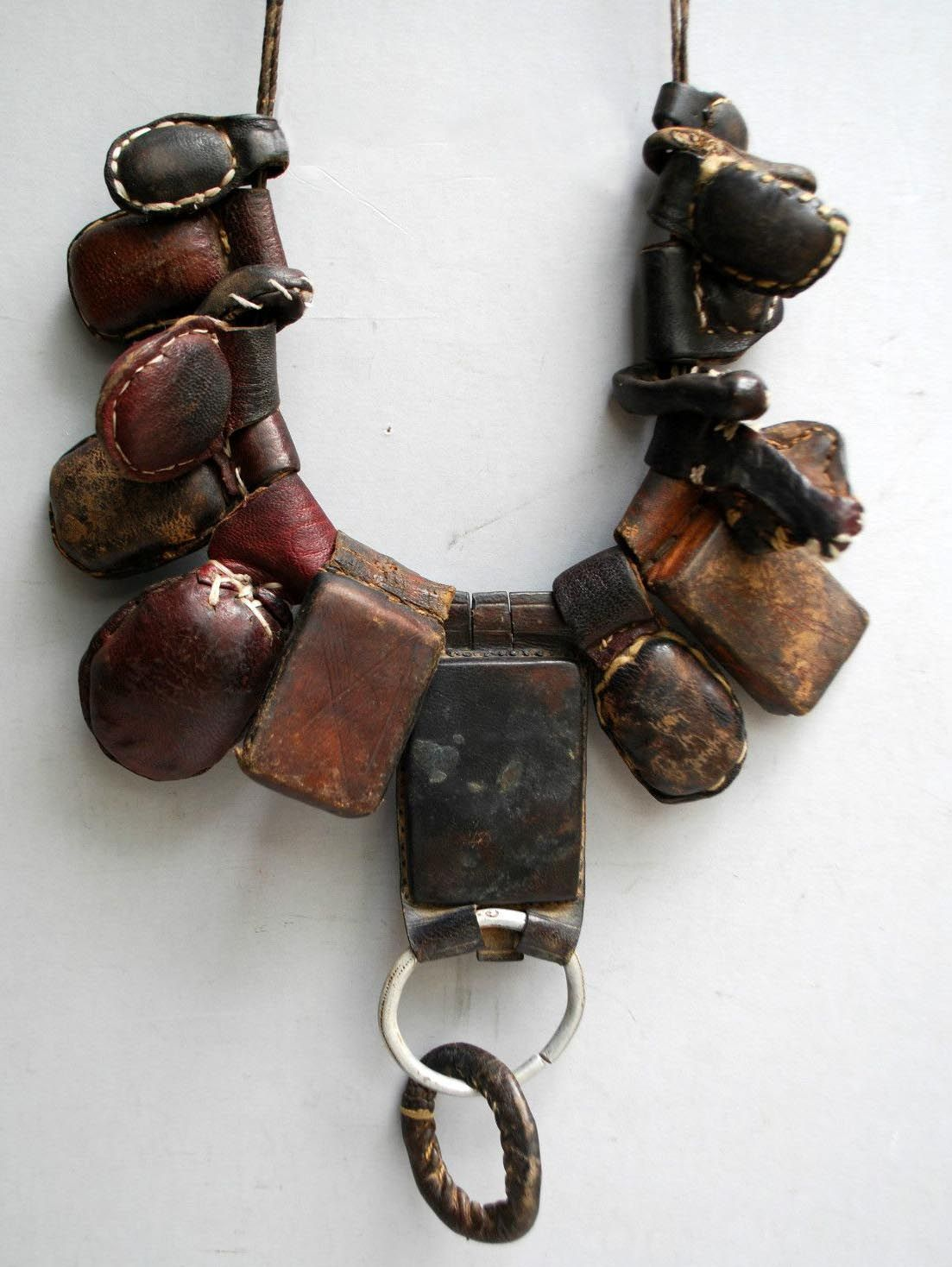 Africa | Protective amulet necklace from the Tuareg nomads
