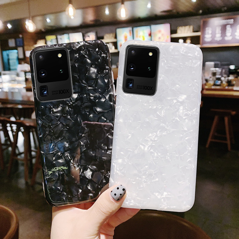Fashion Conch Shell Marble Phone Case For Samsung S20 Note 10 S10 Plus S9 S8 S7 Note 9 8 S10e Acrylic Hard Back Cover In 2020 Phone Cases Marble Phone Cases Samsung Cases