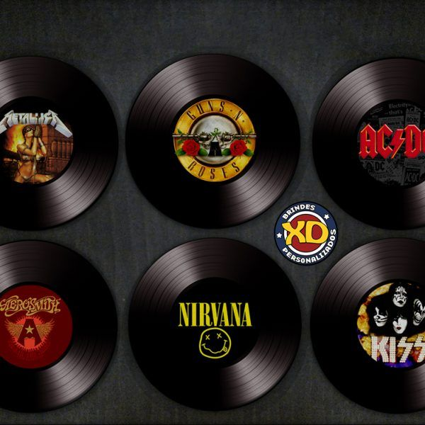 Kit c  6 Porta-Copos LPs - Maiores Bandas de Rock Banda, Bandas de - best of tabla periodica cuantos grupos tiene
