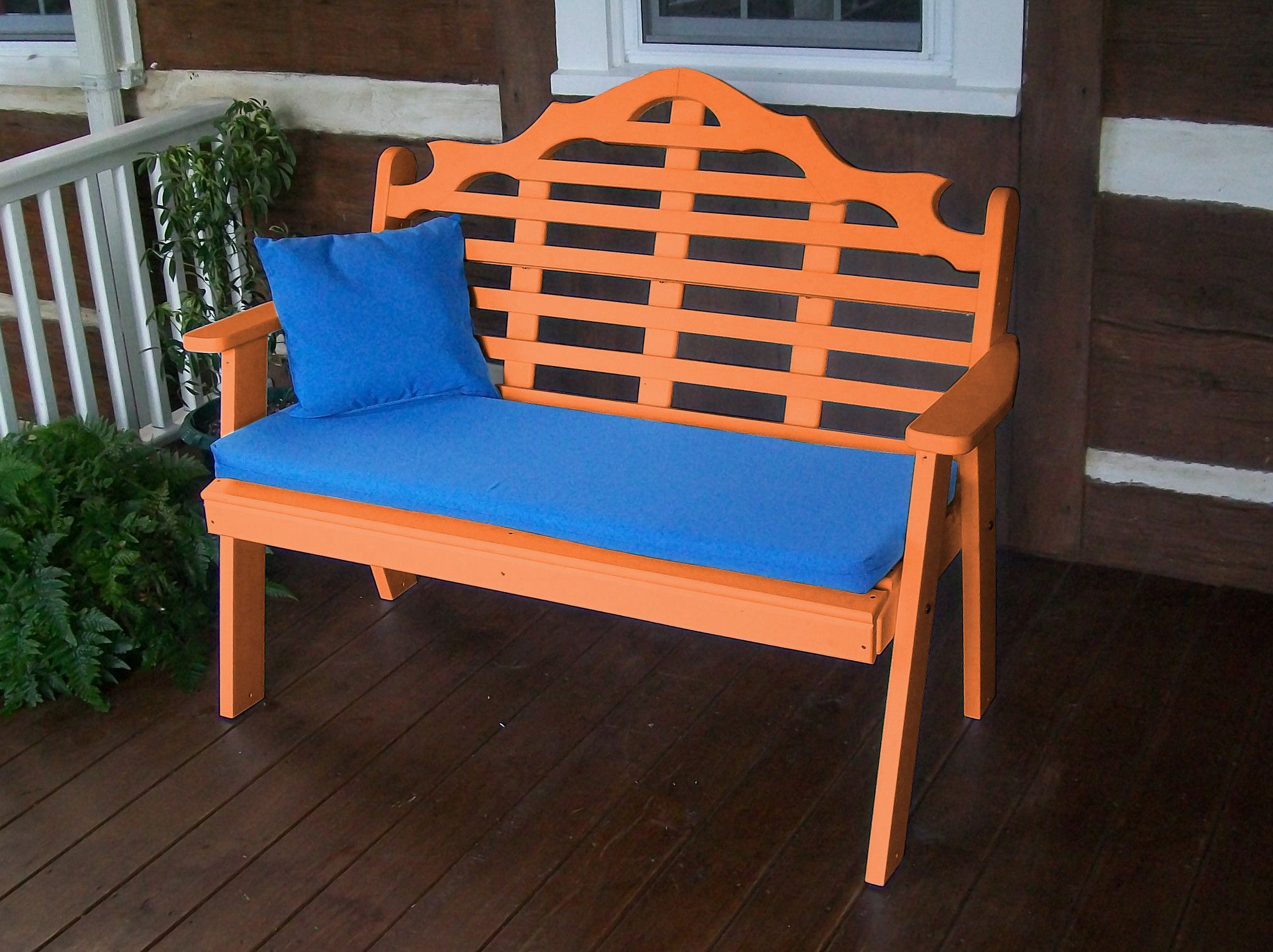Au0026L Furniture Company Recycled Plastic 4u0027 Marlboro Garden Bench