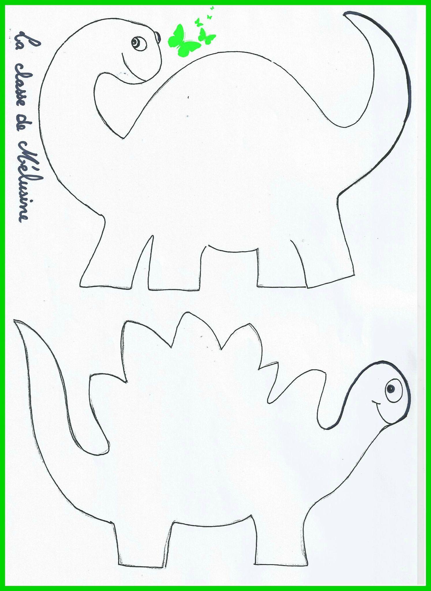 dinos gabarit photo · Coloriage DinosaureAnniversaire
