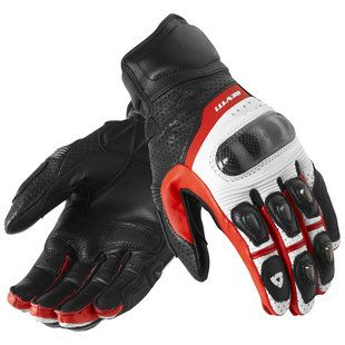 LDM Street-R Motorcycle Motorbike Race Armoured Leather Gloves Black
