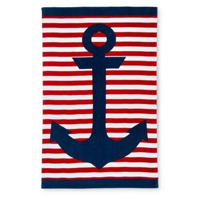 Bed Bath And Beyond Beach Towels Stunning Anchor Beach Towel In Navy  Bed Bath & Beyond  Saltlife Design Inspiration