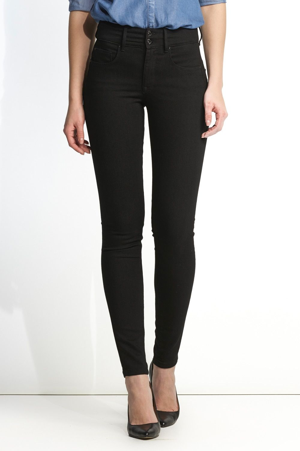 d312ae6ae8fcb Skinny True Black Push In Secret jeans in black denim | 100258 Black | Salsa