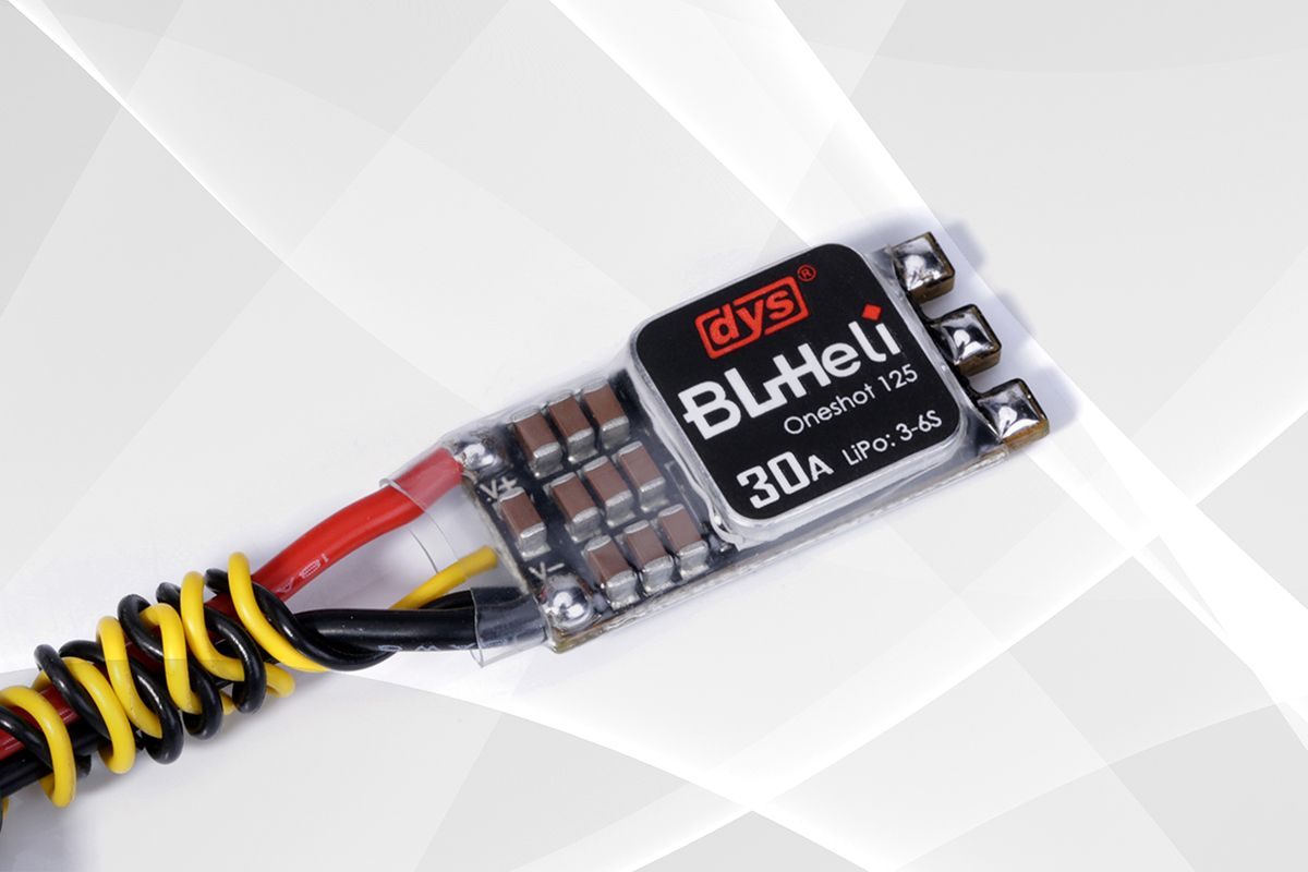 DYS esc XM30A mini version with F396 chips support to use in 3-6s, enable oneshot125 and damped light