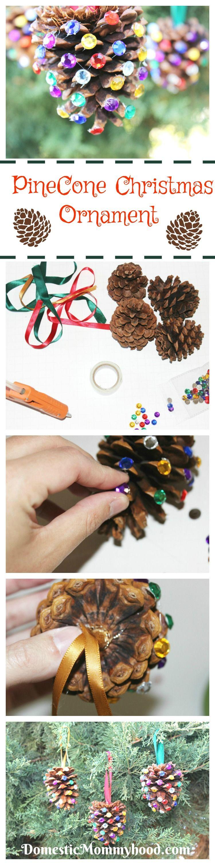 PineCone Crafts for Kids Christmas Ornament Craft #PineConeKidsCraft