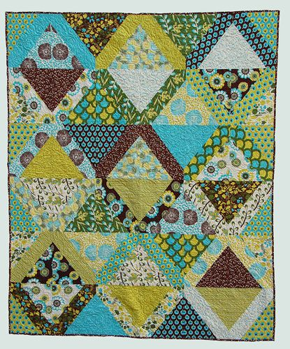 Love the colors in this quilt pattern