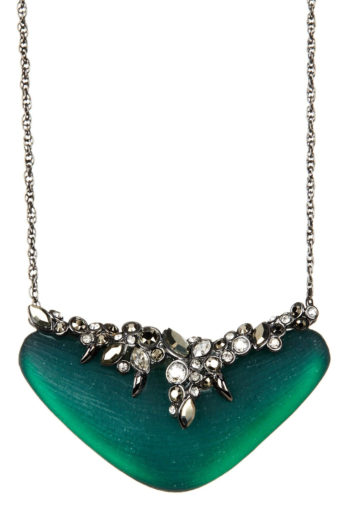 Alexis Bittar | Lucite Single Tier Crystal Lace Pendant Necklace | Nordstrom Rack