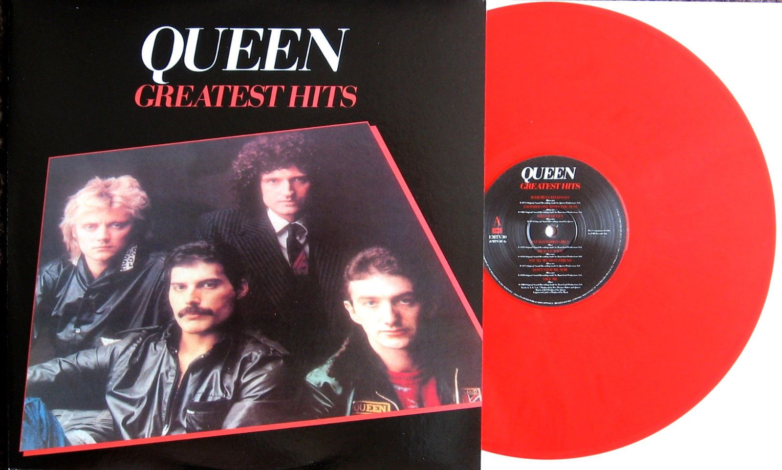 Queen Greatest Hits Rare Bright Red Color Vinyl Lp Uk Import Brand New Vinyl Red Color Color