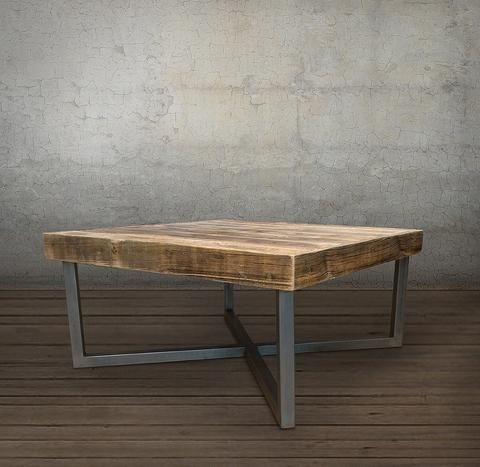Reclaimed Wood and Metal Coffee Table Two Tier Free Shipping