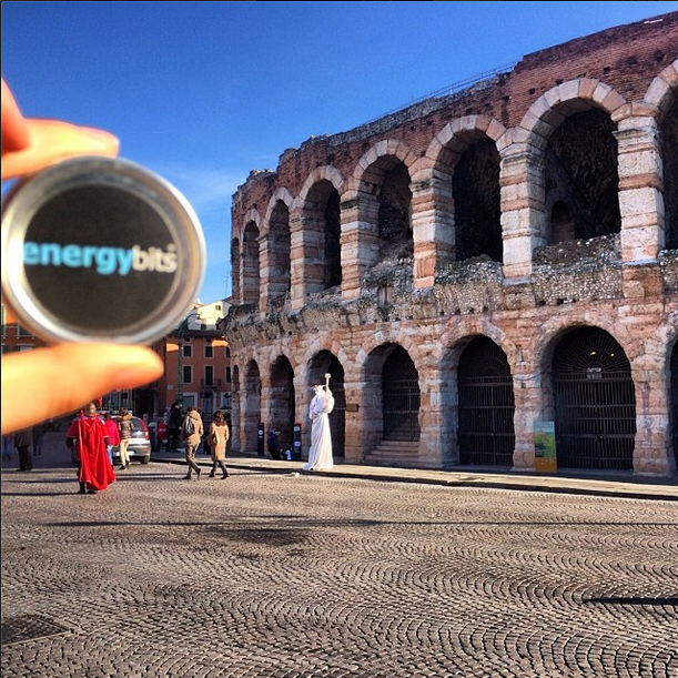 Bits powered up to kick off 2014 in the Arena in Verona, Italy #travel #nofilter  #history    #PoweredbyBits ENERGYbits®
