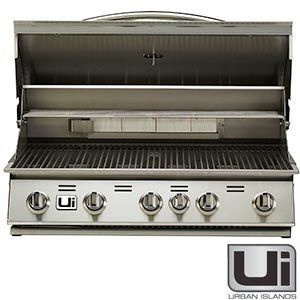 Urban Island Stainless Steel 38 Drop In 5 Burner Grill By Bull Outdoor Products With Images Urban Island
