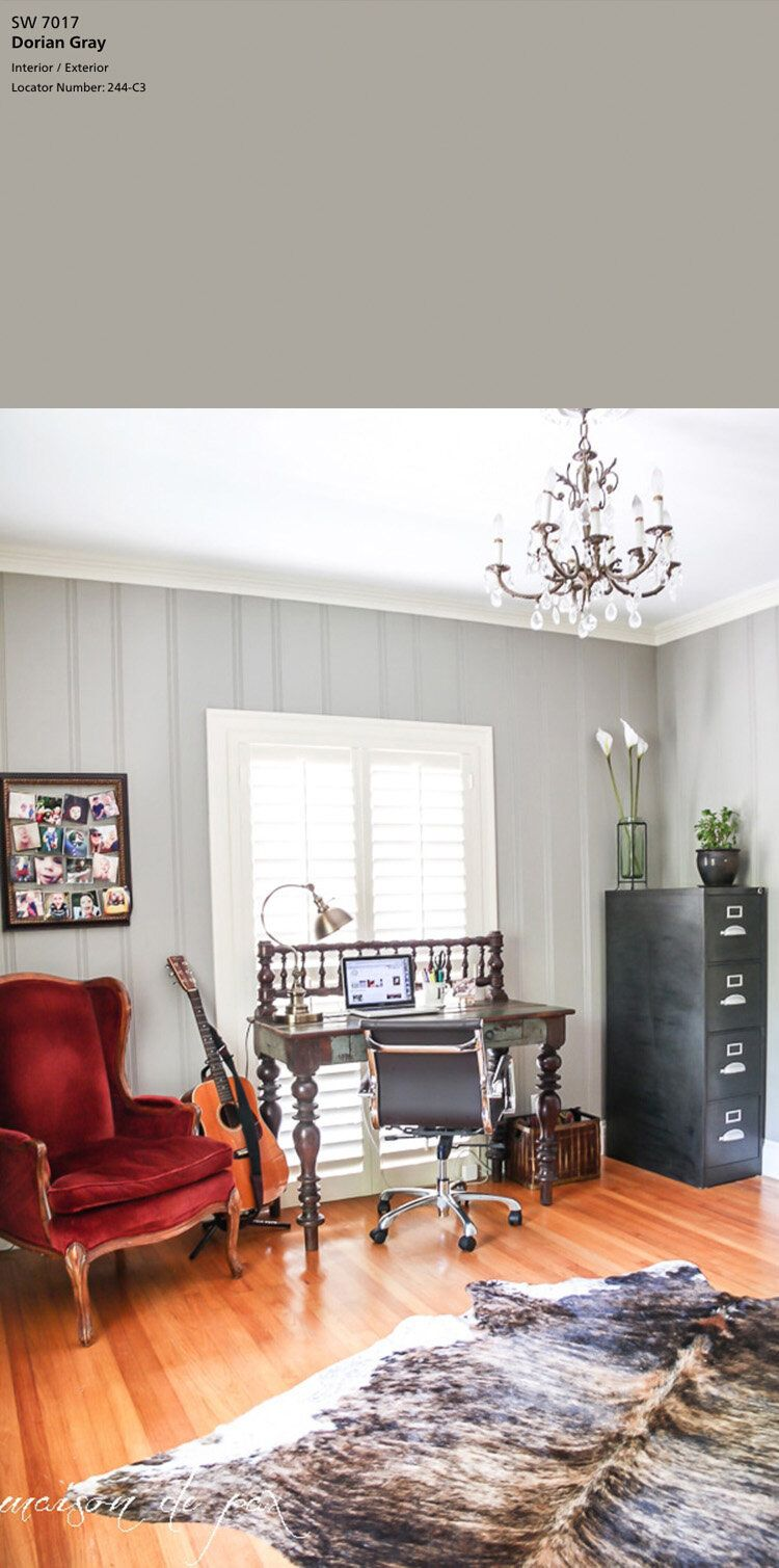 10 Best Gray Paint Colors By Sherwin Williams Tag Tibby Design In 2020 Paneling Makeover Wood Paneling Makeover Home Decor