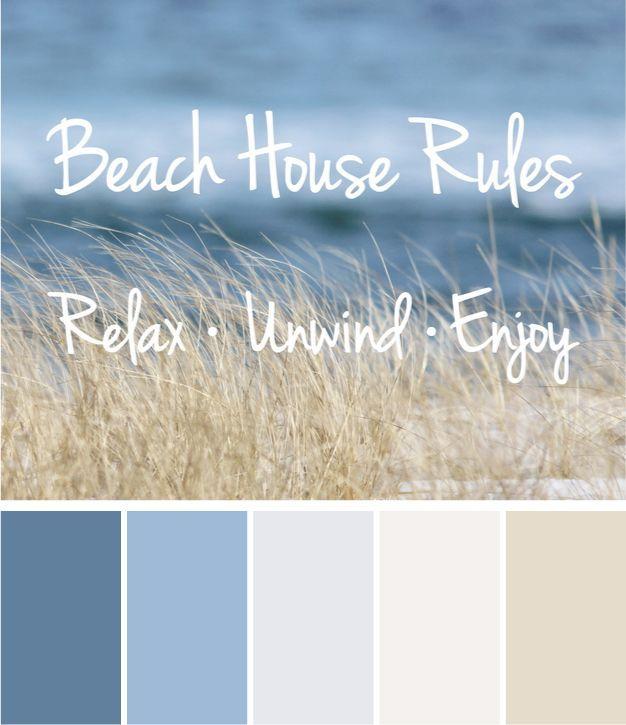 Beach House Rules, Beach Quotes, Beach Photography, Coastal Wall Art, Beach Grass and Ocean Photo Relax Unwind Enjoy Inspirational Quote