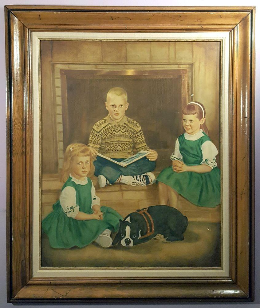 1950 S Nuclear Children Illustration Art Portrait Art Art